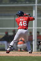 Boston Red Sox Tyler Hill (46) during a minor league spring training game against the Baltimore Orioles on March 18, 2015 at Buck O'Neil Complex in Sarasota, Florida.  (Mike Janes/Four Seam Images)