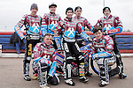 LEFT TO RIGHT: (Back Row) Peter Karlson, Kim Neilson, Louis Bridger, Piotr Swiderski, ON BIKE Davy Watt, FRONT ROW Rob Mear, Richard Lawson<br /> LAKESIDE HAMMERS v EASTBOURNE EAGLES<br /> ELITE LEAGUE<br /> FRIDAY 29TH MARCH 2013<br /> ARENA ESSEX