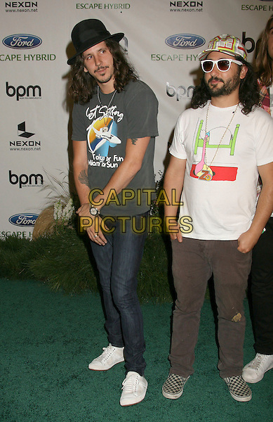 "CISCO ADLER & FRIENDS.BPM Magazine s 11th Anniversary ""GREEN"" Celebration held at Avalon, Hollywood, California, USA,.19 July 2007..full length hat jeans white trainers black skinny t-shirt.CAP/ADM/RE.©Russ Elliot/AdMedia/Capital Pictures."