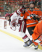 Jake Horton (Harvard - 91), Tommy Davis (Princeton - 25) - The Harvard University Crimson defeated the visiting Princeton University Tigers 5-0 on Harvard's senior night on Saturday, February 28, 2015, at Bright-Landry Hockey Center in Boston, Massachusetts.