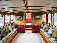 Henley Royal Regatta, Henley on Thames, Oxfordshire, 28 June - 2 July 2017.  Wednesday  11:54:57   28/06/2017  [Mandatory Credit/Intersport Images]<br /> <br /> Rowing, Henley Reach, Henley Royal Regatta.<br /> Details from The Royal Row Barge GLORIANA
