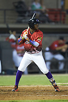 Luis Alexander Basabe (16) of the Winston-Salem Dash at bat during the 2018 Carolina League All-Star Classic at Five County Stadium on June 19, 2018 in Zebulon, North Carolina. The South All-Stars defeated the North All-Stars 7-6.  (Brian Westerholt/Four Seam Images)