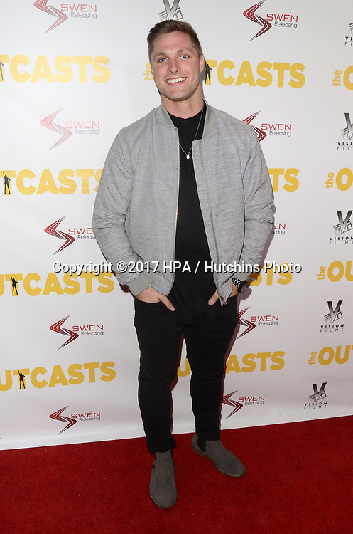 """LOS ANGELES - APR 13:  Brock Yurich at the """"The Outcasts"""" Premiere at the Landmark Regent Theater on April 13, 2017 in Westwood, CA"""