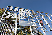 London, UK. 4 October 2016. Preparations are under way for the 2016 Frieze London Art Fair in Regent's Park which runs from 6 to 9 October 2016.