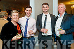 Adrienne McLoughlin, Rory Forbes, Gearoid Fitzgerald and Damien McLoughlin, pictured at the Austin Stacks social at The Rose Hotel, Tralee, on Saturday night last.
