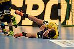 GER - Mannheim, Germany, September 23: During the DKB Handball Bundesliga match between Rhein-Neckar Loewen (yellow) and TVB 1898 Stuttgart (white) on September 23, 2015 at SAP Arena in Mannheim, Germany. (Photo by Dirk Markgraf / www.265-images.com) *** Local caption *** Alexander Petersson #32 of Rhein-Neckar Loewen