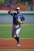 Milwaukee Brewers Ignacio Otano (7) during an instructional league game against the Los Angeles Dodgers on October 13, 2015 at Cameblack Ranch in Glendale, Arizona.  (Mike Janes/Four Seam Images)