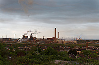 Pictured: The Tata Steel Works in Port Talbot, Wales, UK. Friday 26 April 2019<br /> Re: A series of explosions happened in the early hours of the morning at the Tata Steel Works in Port Talbot, south Wales, UK.