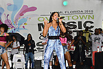 MIAMI, FL - JULY 25: Mýa performs during the Overtown Music and Arts Festival at the historic Overtown district of Miami on Saturday July 25, 2015 in Miami, Florida. ( Photo by Johnny Louis / jlnphotography.com )