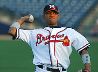 24 April 2007: Diory Hernandez of the Mississippi Braves, the Atlanta Braves' Class AA affiliate of the Southern League, in a game against the Birmingham Barons at Trustmark Park in Pearl, Miss. Photo by:  Tom Priddy/Four Seam Images