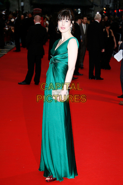 GINA McKEE.Red Carpet Arrivals for the British Academy Television Awards 2008, held at the London Palladium, London, England, .April 20th 2008. .BAFTA BAFTA's full length green silk satin dress silver clutch bag purse .CAP/DAR.©Darwin/Capital Pictures.