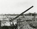 Undated - Type 5 15cm Anti aircraft gun was a large caliber anti-aircraft gun developed by the Imperial Japanese Army during the final days of World War II. (Photo by Kingendai Photo Library/AFLO)