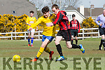 Aaron Foley Killorglin creating havoc in the Mastergeeha defence during their clash in Killorglin on Saturday