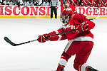 Wisconsin Badgers defenseman Justin Schultz (6) scores during an NCAA hockey game against the Alabama Huntsville Chargers at the Kohl Center in Madison, Wisconsin on October 15, 2010. The Badgers won 7-0. (Photo by David Stluka)