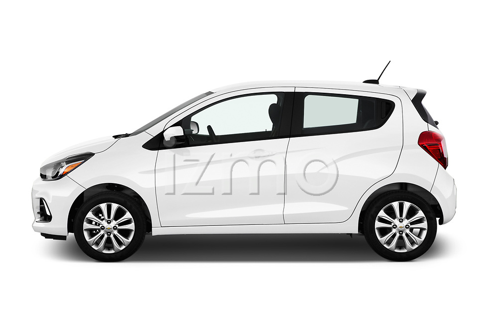 Car Driver side profile view of a 2017 Chevrolet Spark 1LT 5 Door Hatchback Side View