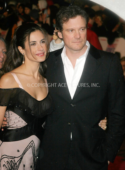 WWW.ACEPIXS.COM . . . . .  ... . . . . US SALES ONLY . . . . ...LONDON, UK, NOVEMBER 9, 2004: Colin Firth and wife Livia Giuggioli at the UK premiere of 'Bridget Jones 2 - The Edge of Reason'.  Please byline: FRED DUVAL-FAMOUS - ACE PICTURES.... . . . .  ....Ace Pictures, Inc:  ..Alecsey Boldeskul (646) 267-6913 ..Philip Vaughan (646) 769-0430..e-mail: info@acepixs.com..web: http://www.acepixs.com