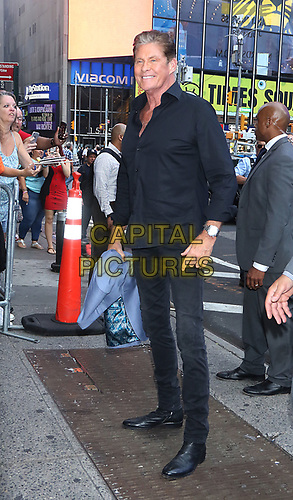 NEW YORK, NY - July 09:. David Hasselhoff and KITT on Good Morning America promoting his new show Battle of the 8O's Supercar on July 09, 2019. <br /> CAP/MPI/RW<br /> ©RW/MPI/Capital Pictures