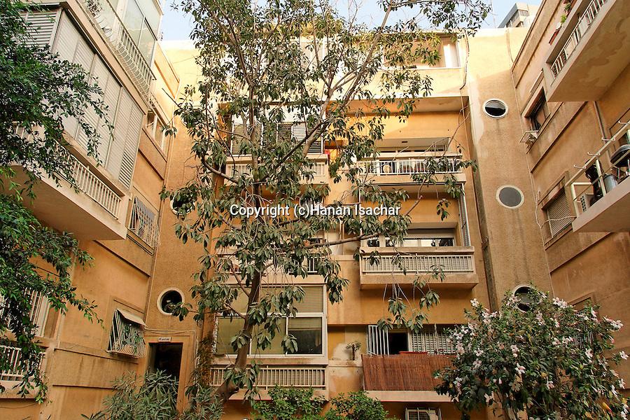 Israel, Tel Aviv. Gerber house, a Bauhaus style building