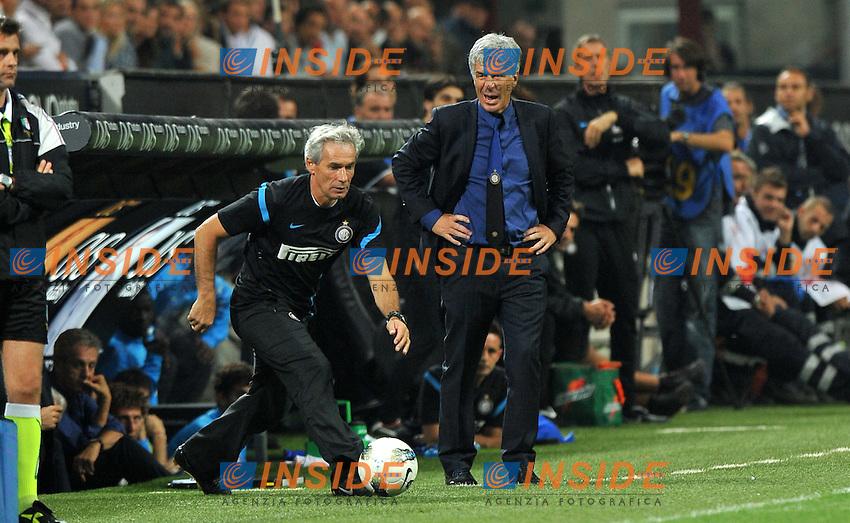 "Giuseppe BARESI, Gian Piero GASPERINI (Inter).Milano 17/9/2011 Stadio ""Giuseppe Meazza"".Serie A 2011/2012 .Football Calcio Inter Vs Roma.Foto Insidefoto Alessandro Sabattini."