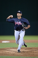 Tampa Yankees pitcher Andury Acevedo (48) delivers a pitch during a game against the Fort Myers Miracle on April 15, 2015 at Hammond Stadium in Fort Myers, Florida.  Tampa defeated Fort Myers 3-1 in eleven innings.  (Mike Janes/Four Seam Images)