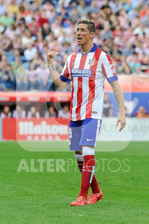 Atletico de Madrid´s Fernando Torres during 2014-15 La Liga match between Atletico de Madrid and Athletic Club at Vicente Calderon stadium in Madrid, Spain. May 02, 2015. (ALTERPHOTOS/Luis Fernandez)