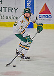 14 February 2015: University of Vermont Catamount Forward Mackenzie MacNeil, a Freshman from Richmond Hill, Ontario, in third period action against the University of New Hampshire Wildcats at Gutterson Fieldhouse in Burlington, Vermont. The Lady Catamounts rallied from a 3-1 deficit to earn a 3-3 tie in the final home game of their NCAA Hockey East season. Mandatory Credit: Ed Wolfstein Photo *** RAW (NEF) Image File Available ***