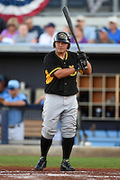 Bradenton Marauders catcher Jin-De Jhang (47) at bat during a game against the Charlotte Stone Crabs on April 4, 2014 at Charlotte Sports Park in Port Charlotte, Florida.  Bradenton defeated Charlotte 9-1.  (Mike Janes/Four Seam Images)