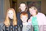 HANNAH TIME: Enjoying Hannah time at the Hannah Montana concert at the Fels Point Hotel on Saturday l-r: Ciara, Megan and Liam Horgan, Lissanearla and Serena O'Donoghue, Shanakill.