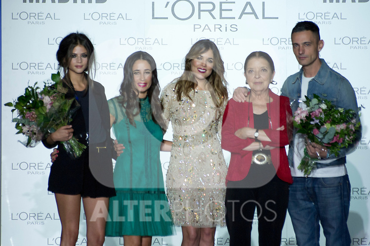 03.09.2012.  L'Oreal award in the Mercedes-Benz Fashion Week Madrid Spring/Summer 2013 at Ifema. In the image Alba Galocha, Director L'Oreal, Adriana Ugarte, Cuca Solana and David Delfin  (Alterphotos/Marta Gonzalez)