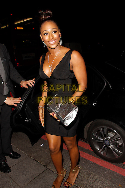 LONDON, ENGLAND - OCTOBER 01 :  Alexandra Burke arrives at The Breast Cancer Care Fashion Show - evening show at the Grosvenor House on October 01, 2014 in London, England.<br /> CAP/AH<br /> &copy;Adam Houghton/Capital Pictures