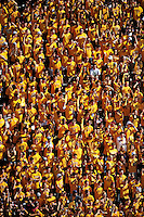 Nov. 28, 2009; Tempe, AZ, USA; Arizona State Sun Devils fans in the crowd against the Arizona Wildcats at Sun Devil Stadium. Arizona defeated Arizona State 20-17. Mandatory Credit: Mark J. Rebilas-