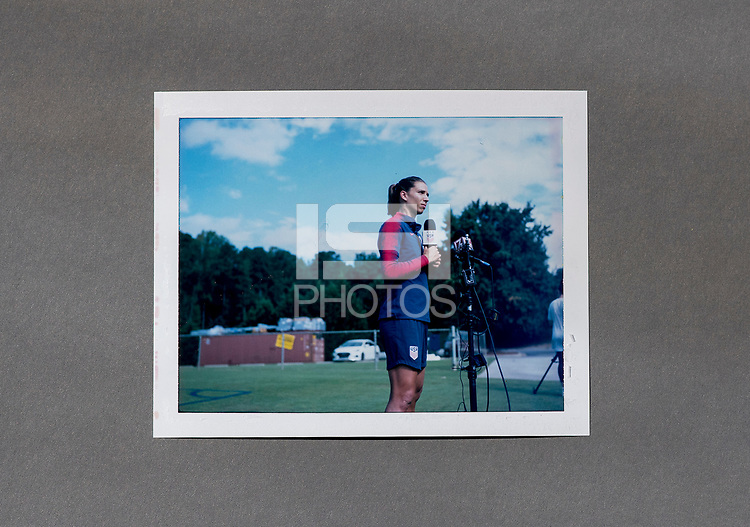 Cary, NC - October 2, 2018:  The USWNT trains in preparation for the group stage of the 2018 CONCACAF Women's Championship at WakeMed Soccer Park.
