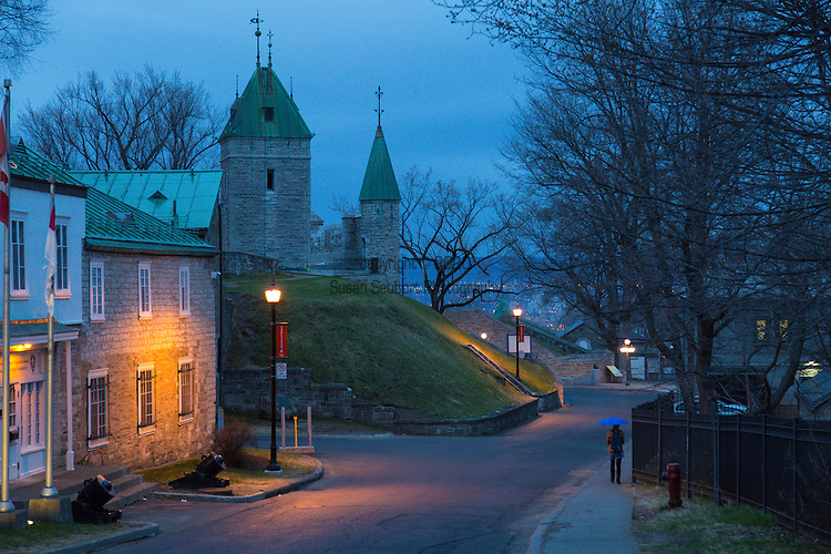 Street scenes from Vieux Quebec, the only fortified city in North America north of Mexico, Quebec City, Canada