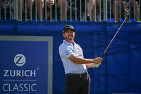 Jimmy Walker (USA) watches his tee shot on 1 during Round 3 of the Zurich Classic of New Orl, TPC Louisiana, Avondale, Louisiana, USA. 4/28/2018.<br /> Picture: Golffile | Ken Murray<br /> <br /> <br /> All photo usage must carry mandatory copyright credit (&copy; Golffile | Ken Murray)