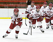 Ashley Wheeler (Harvard - 12), Kate Buesser (Harvard - 20) - The Harvard University Crimson defeated the St. Lawrence University Saints 8-3 (EN) to win their ECAC Quarterfinals on Saturday, February 26, 2011, at Bright Hockey Center in Cambridge, Massachusetts.