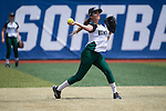 21 MAY 2016:  Cyndi Chavez (2) of Humboldt State University makes a play at shortstop against the University of North Alabama during the Division II Women's Softball Championship held at the Regency Athletic Complex on the Metro State University campus in Denver, CO.  North Alabama defeated Humboldt State 10-1 to force a game three.  Jamie Schwaberow/NCAA Photos