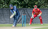 Cricket Scotland - Scotland V Namibia One Day International match at Grange CC today (Thur) - this match is the first of two ODI matches this week against Zimbabwe - Scotland's Michael Leask send the ball over the rope in his 59 not out stand - picture by Donald MacLeod - 15.06.2017 - 07702 319 738 - clanmacleod@btinternet.com - www.donald-macleod.com