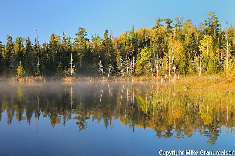 Lyons Lake at sunrise<br /> Whiteshell Provincial Park<br /> Manitoba<br /> Canada