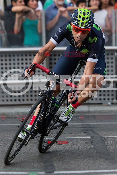 Spanish cyclist Alejandro Valverde of Movistar team during the last stage or La Vuelta of Spain in Madrid. September 10, 2016. (ALTERPHOTOS/Rodrigo Jimenez) NORTEPHOTO.COM