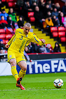 CD Lugo's defender Vasyl Kravets (3) for Ukraine U21's  during the International Euro U21 Qualification match between England U21 and Ukraine U21 at Bramall Lane, Sheffield, England on 27 March 2018. Photo by Stephen Buckley / PRiME Media Images.