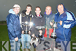 5593- 5596.TROPHY: The O'Shea's from Tralee who wonn the Lixnaw Coursing on Sunday with their Cups, l-r: John Moriarty, Mike,Danny,John and John O'Shea...