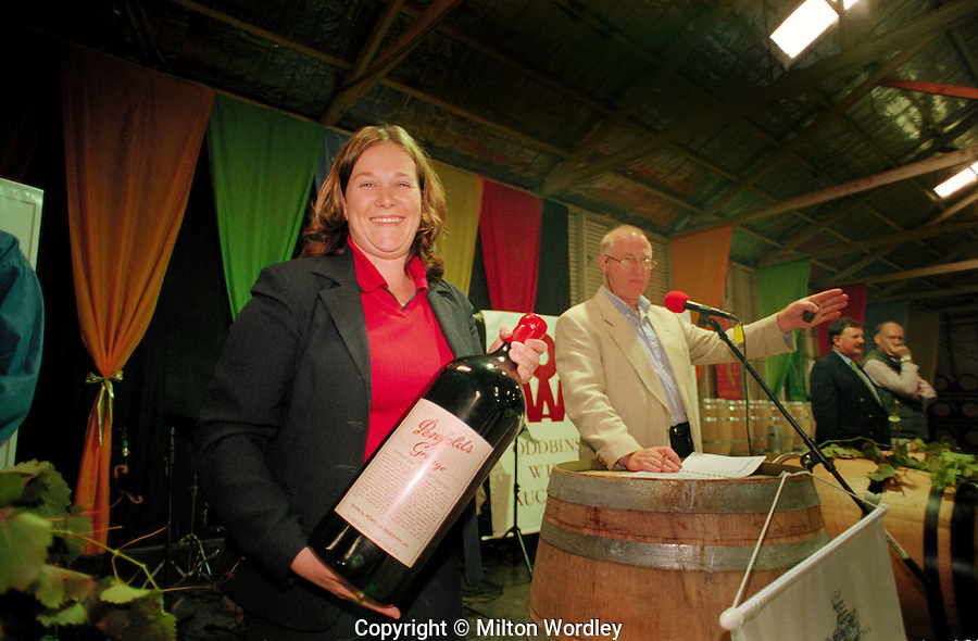 Barossa Vintage Auctioneer Colin Gaetjens auctions an imperial of Penfolds Grange