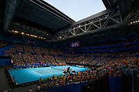 9th November 2019; RAC Arena, Perth, Western Australia, Australia; Fed Cup by BNP Paribas Tennis Final, Day 1, Australia versus France; A view of RAC Arena during the second rubber between Ash Barty of Australia and Caroline Garcia of France