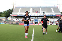 Cary, North Carolina  - Saturday June 17, 2017: Margaret Purce prior to a regular season National Women's Soccer League (NWSL) match between the North Carolina Courage and the Boston Breakers at Sahlen's Stadium at WakeMed Soccer Park. The Courage won the game 3-1.
