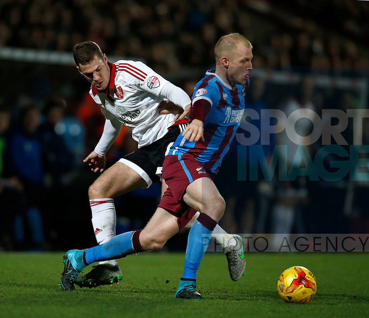 Paul Coutts of Sheffield Utd makes a tackle  - English League One - Scunthorpe Utd vs Sheffield Utd - Glandford Park Stadium - Scunthorpe - England - 19th December 2015 - Pic Simon Bellis/Sportimage