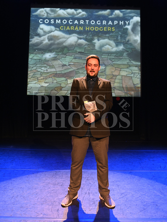 Ciarán Hodgers at the launch of his book Cosmocartography in The Droichead Arts Centre. Photo:Colin Bell/pressphotos.ie