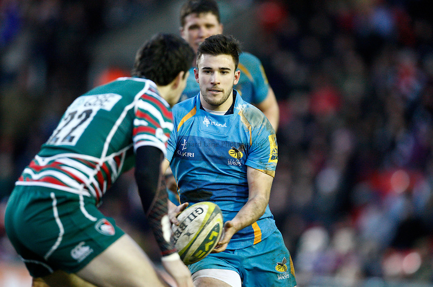 Photo: Richard Lane/Richard Lane Photography. Leicester Tigers v London Wasps. LV= Cup. 26/01/2013. Wasps' Tommy Bell.