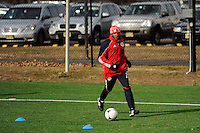 Dane Richards (19) during a New York Red Bulls practice on the campus of Montclair State University in Upper Montclair, NJ, on July 16, 2012.