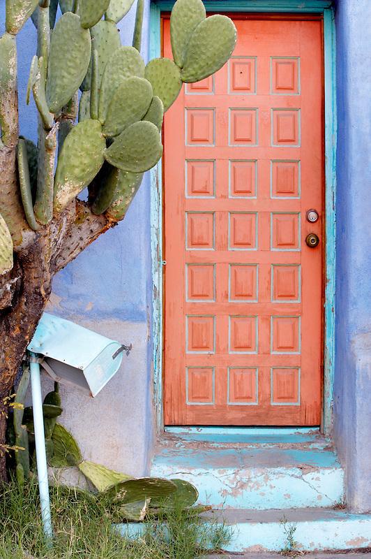 Old door and mailbox. Tucson. Arizona