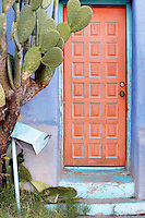 Old door and mailbox. Tucson. Arizona